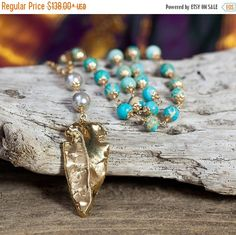 THANKSGIVING SALE GOLD Arrowhead Necklace  by AlisonStorryJewelry
