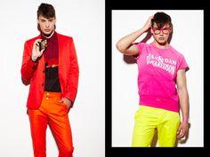 Exkluzív: HE - Zsólyomi Norbert for HeStyle Red Leather, Leather Jacket, Benetton, Stella Mccartney, Calvin Klein, Capri Pants, Editorial, Florida, Model