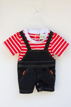 An everyday baby onesie perfect for the park or a play date Baby Onesie, Onesies, Summer Boy, Our Baby, Overall Shorts, Summer Collection, Overalls, Play, Boys