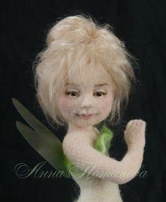 Nadel Gefilzte Puppe lila Fee. Kunst-Puppe Puppe Autor von AnnPot