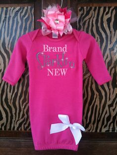 Brand Sparklin New Infant Gown by thelimezebra on Etsy, $24.99