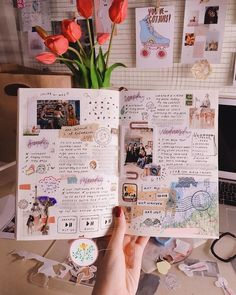 "For Mia Ong ( bullet journaling pulled her out of a productivity slump. ""I had problems catching up with schoolwork,"" says the… journal Bullet Journal Inspo, Bullet Journal Aesthetic, Bullet Journal Notebook, Bullet Journal Ideas Pages, Bullet Journal Spread, Album Journal, Scrapbook Journal, Photo Journal, Journal Diary"