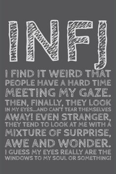 INFJ weird eyes!