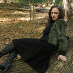 A #fall must: the black #cashmere and olive green #fur top. Available in a variety of colors. (Model above is wearing #Chanel boots) #boots #model #fashion #fashionista #fashionlabel #fashiondesign #designer #sweater #leather #brown #hair #fall #leaves #hautecouture #style #stylist