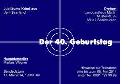 """Einladungskarte / Einladung """"Krimi"""" von Perso-Kreativ auf DaWanda.com"""