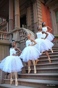 Black Ballerina's at the Union League building. A Philadelphia historical landmark. Black Girl Art, Black Women Art, Black Girls Rock, Black Love, Beautiful Black Women, Black Girl Magic, Beautiful People, Black Art, Lil Black