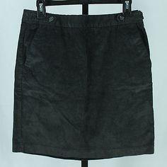 Banana Republic Size 6 Tall Gray Corduroy Skirt Ladies Above Knee Online Fashion | eBay