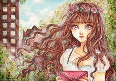 In the Garden by cherriuki.deviantart.com on @deviantART