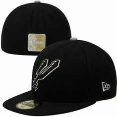 3535cd2a13f New Era San Antonio Spurs Metallic Pop 59FIFTY Fitted Hat - Black