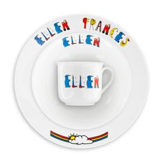 Personalized Three Piece Dinnerware Set