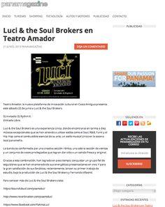 Luci & The Soul Brokers live @TeatroAmador - www.panamagazine.com