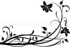 Znalezione obrazy dla zapytania ornamenty roślinne szablony