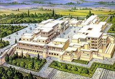 Heraklion-Knossos Minoan Palace Reconstruction. Knossos was undeniably the capital of Minoan Crete. It is grander, more complex, and more flamboyant than any of the other palaces known to us, and it is located about twenty minutes south of the modern port town of Iraklio.
