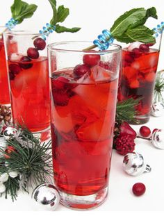 Cranberry Gin Fizz - Sloe Gin, Gin, Cranberry Ginger Ale and some Ice.  http://www.whattodrink.com/drinkrecipes/cranberry-gin-fizz/