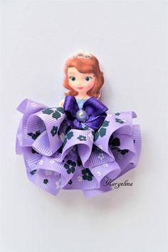 Princesa Sofia la primera pinza Broche hecho a mano pelo banda