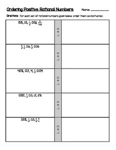 math worksheet : percent fraction and decimal equivalencies match and color  : Ordering Fractions And Decimals From Least To Greatest Worksheet