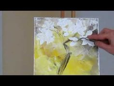 Экспресс живопись. Написать букет мастихином за полчаса. Научиться рисовать в Киеве - YouTube