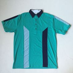 GABICCI POLO SHIRT TURQUOSE NAVY BLUE PATTERN MENS XL VINTAGE Mens Xl, Vintage Outfits, Polo Shirt, Navy Blue, Best Deals, Table, Pattern, Mens Tops, Shopping