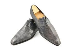 #Aubercy - Luca - Derby 2 œillets - Ligne Mesure - Sur commande - Made to order - Galuchat - #Dapper - #Men - #Shoes ---