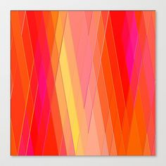 Re-Created+Vertices+No.+22+Stretched+Canvas+by+Robert+S.+Lee+-+$85.00