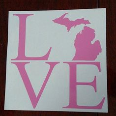 Michigan Love Car Decal by MelissasVinylDesigns on Etsy