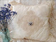 Vintage Battenberg Lace Pillow  Vintage Pillow by MissionJewels, $42.00