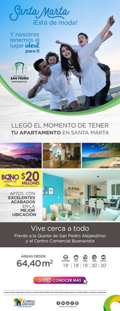 #NOVOCLICK esta con #MiradordeSanPedro #Apartamentos #SantaMarta E-mail Marketing, Shopping, Apartments