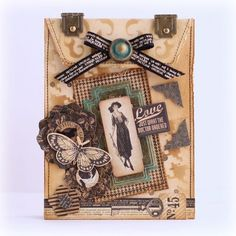This is a beautiful altered envelope from @Yuka Hino! Love how she used our staples for this and created such a beautiful scene! So beautiful! #graphic45