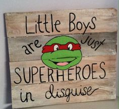 Ninja turtle pallet sign hand painted by writingonthe on Etsy