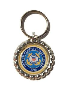 Coast Guard Bottle Cap Keychain by CleverCreationsByMe on Etsy