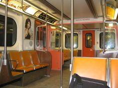 Inside a REALLY old Toronto Transit Commission (TTC) subway car. These trains didn't even have air conditioning! actually these cars did have AC. Tropic Air, Toronto Subway, Dramatic Play Themes, Underground Tube, Toronto Canada, Best Cities, Public Transport, Glasgow, Ontario