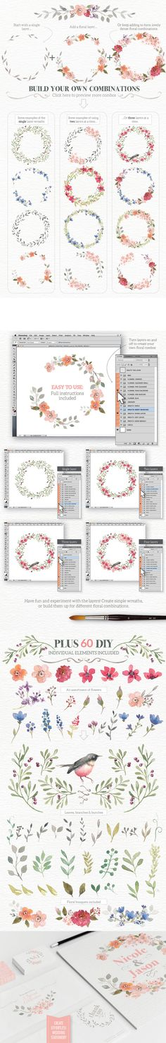 Watercolour Wreath Creator - https://www.designcuts.com/product/watercolour-wreath-creator/
