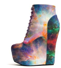AHHH!!! I LOVE THESE!!!!!!  Black Milk X Jeffrey Campbell Galaxies.