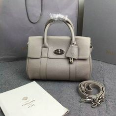 2016 A W Mulberry Small Bayswater Satchel in Grey Grainy Leather Mulberry  Outlet fb6c32b118c93