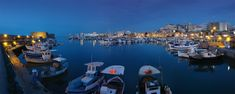 Heraklion Old Harbour, #Crete #Greece Heraklion is the largest city (174k) & capital of Crete. Source: http://en.wikipedia.org/wiki/Heraklion