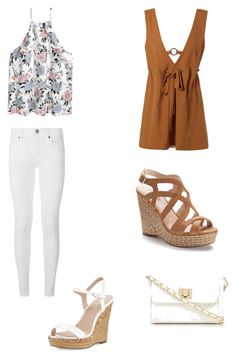"""""""Casual Summer Outfits """" by santana15 ❤ liked on Polyvore featuring Burberry, H&M, Jennifer Lopez, Charles by Charles David and Red Herring"""