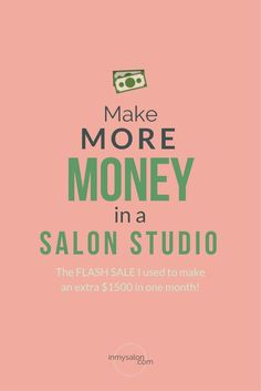 Make more money in your salon suite. I made an extra $1500 in one month by adding a new service to my Salon Studio's Menu, I'm laying how I did it all out for you in this one! #salonsuite #salonmarketing #saloneducation #makemoremoney >> inmysalon.com