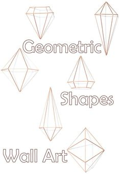 These are so Modern chic! I love how these cool geometric shapes would look, either mounted on the wall or ceiling or placed on a table. #commissionlink #ad