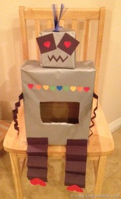 Adorable Love Robot Valentine's Box for school!