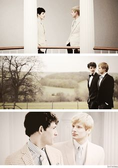 Bradley James and Colin Morgan...this is beautiful (photoshopped of course, but nonetheless  stunning)