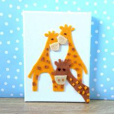 Funny Giraffe Cuddling and Photobomb Picture for by BunbyAndBean bunbyandbean.etsy.com