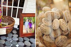 Ideas para los buenos deseos en las bodas: piedras de río #bodas #ElBlogdeMaríaJosé