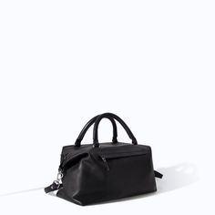 Image 2 of LEATHER BOWLING BAG WITH ZIPPED POCKET from Zara
