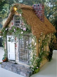 1:12th scale miniature Thatched Cottage from 'Cinderella Moments'