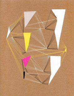 Geometric collages by Chad Wys that are a combination of digital and hand-made paper collage art. Shape Collage, Collage Art, Paper Collages, Geometric Designs, Geometric Art, Geometrical Optics, Geometric Fashion, Encaustic Art, Art Sketchbook