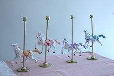 Carousel Horses for Mary Poppins table via Project Nursery | Babies