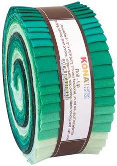 Robert Kaufman 2-1//2 Strips Kona Cotton Spring Meadows 40 Piece