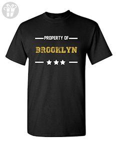 Property Of Brooklyn Funny Boyfriend Valentine's Gift - Adult Shirt 4xl Black - Funny shirts (*Amazon Partner-Link)
