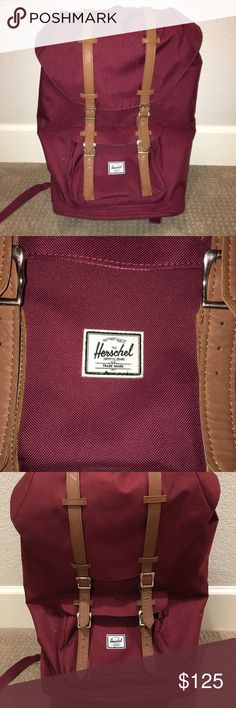 Herschel Little America Full Size Backpack Herschel's Little America full size backpack in red wine. Fits 15inch laptop. In perfect condition. I'm selling it because it's a little too big for me so I want to get a smaller one. Herschel Supply Company Bags Backpacks