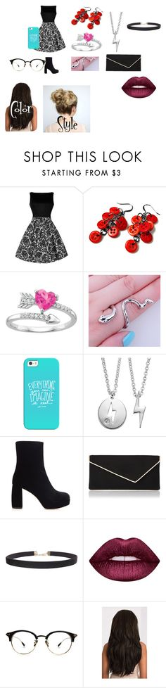 """""""Jaydalynn's Date clothes"""" by weirdo2006 ❤ liked on Polyvore featuring Casetify, Side by Side, Miu Miu, L.K.Bennett, Humble Chic and Lime Crime"""